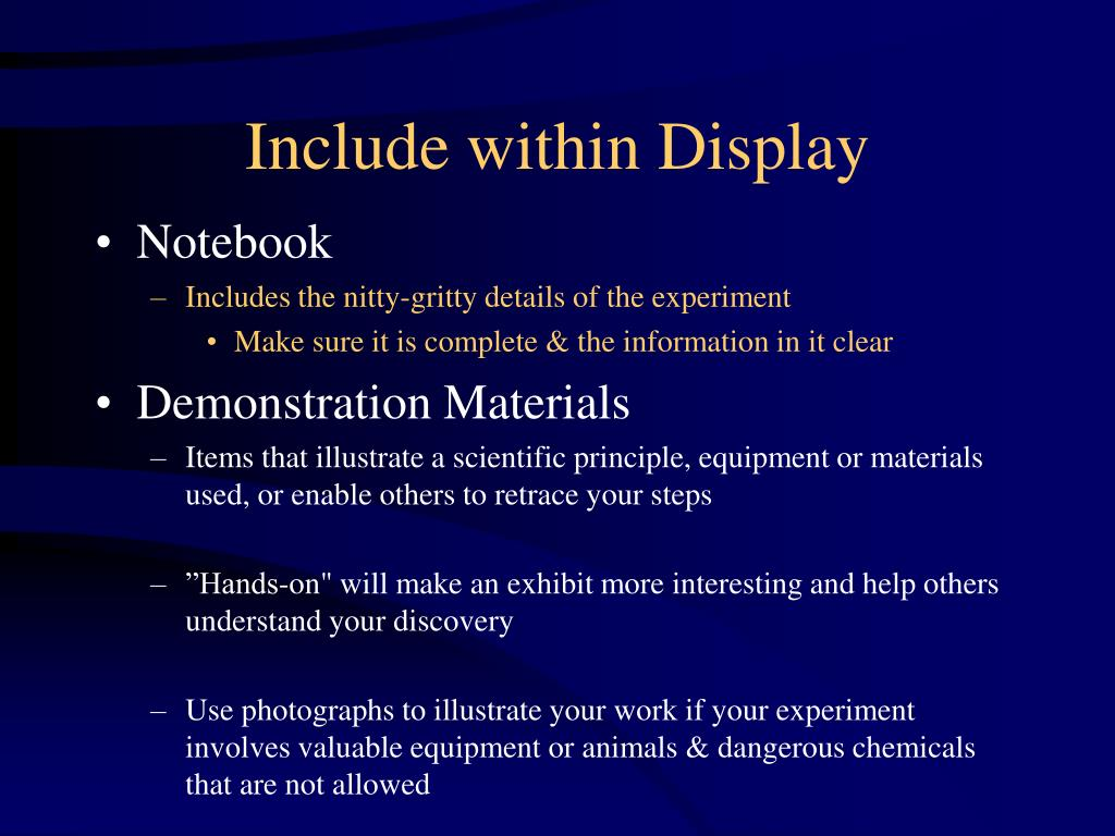 Include within Display