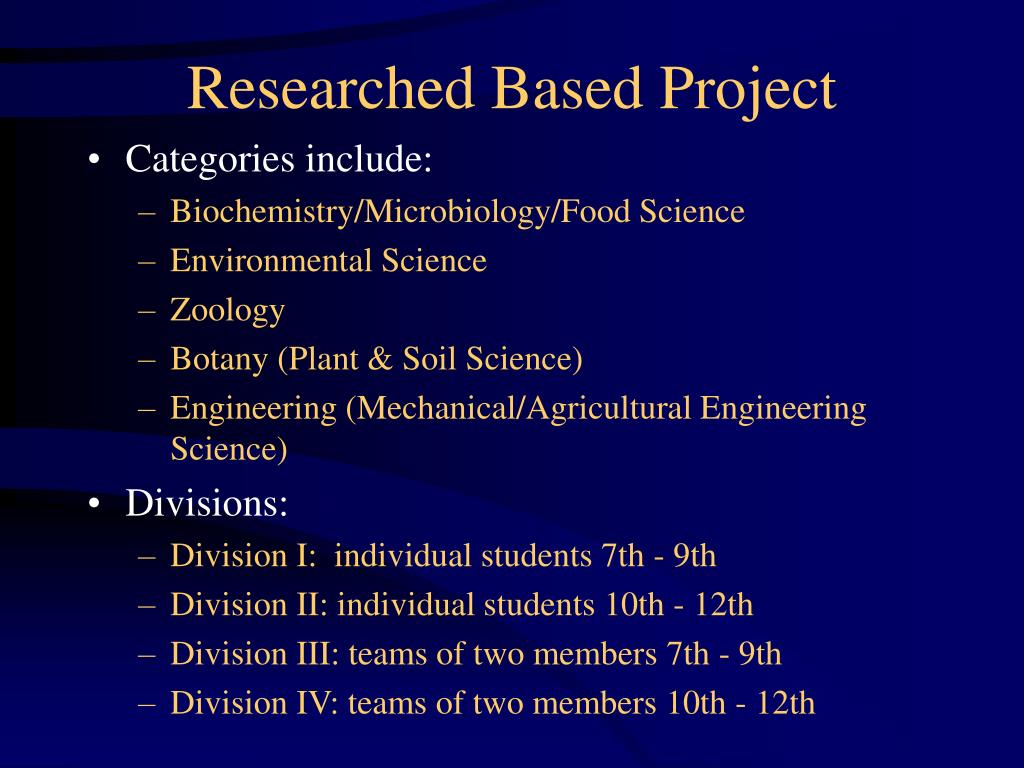 Researched Based Project