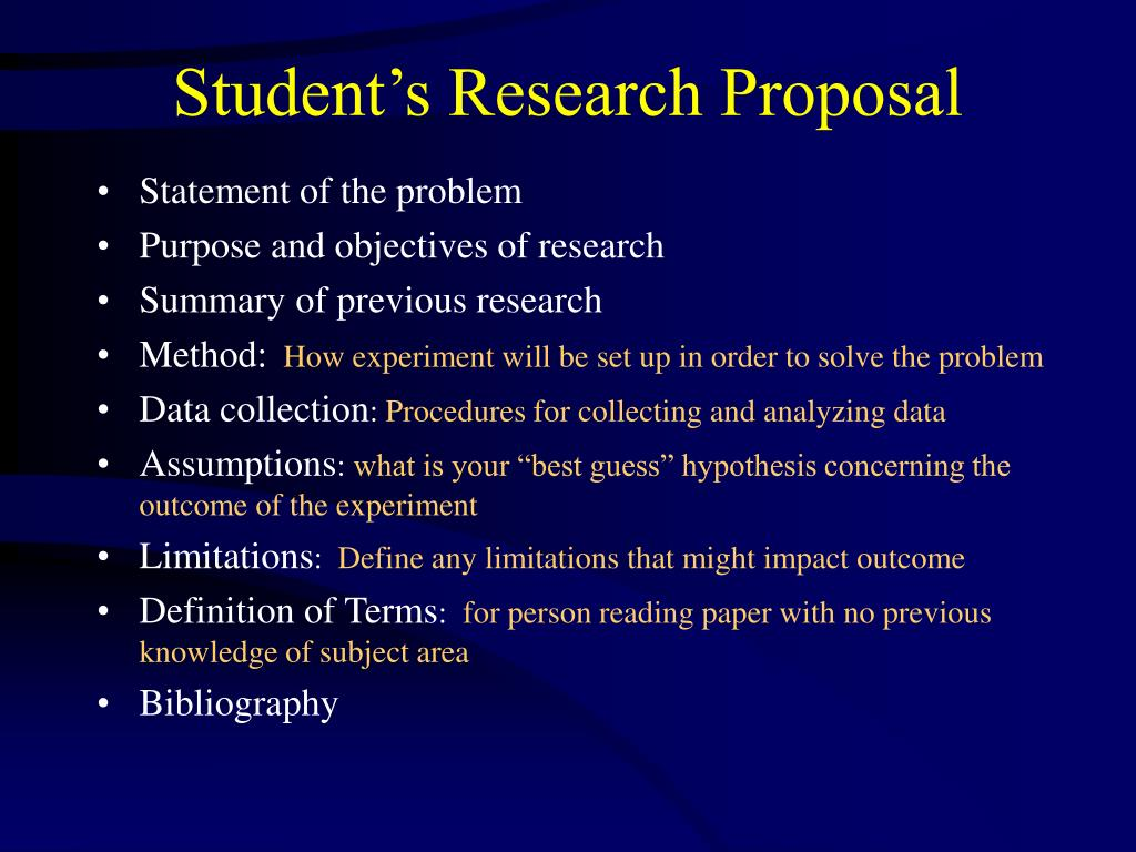 Student's Research Proposal
