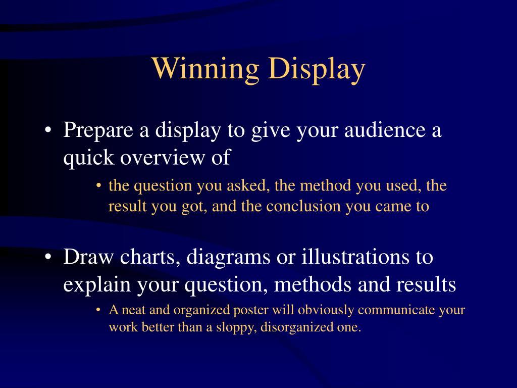 Winning Display