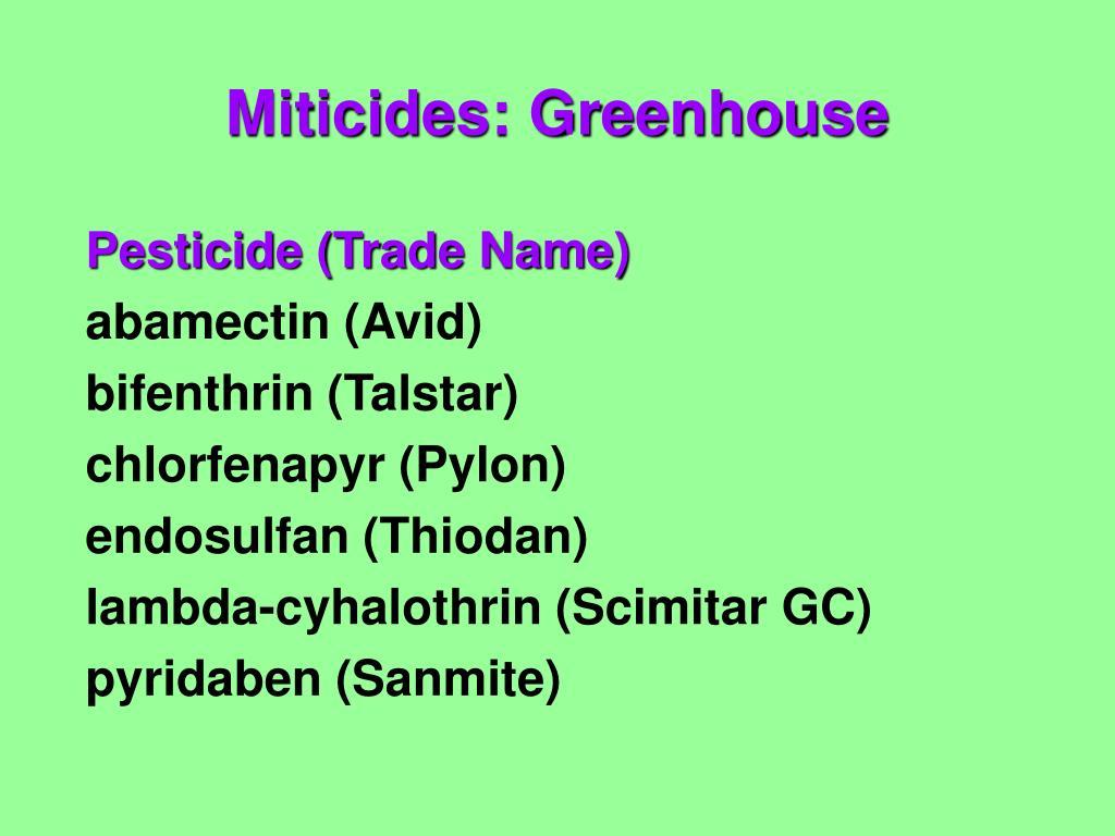 Pesticide (Trade Name)