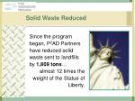 solid waste reduced