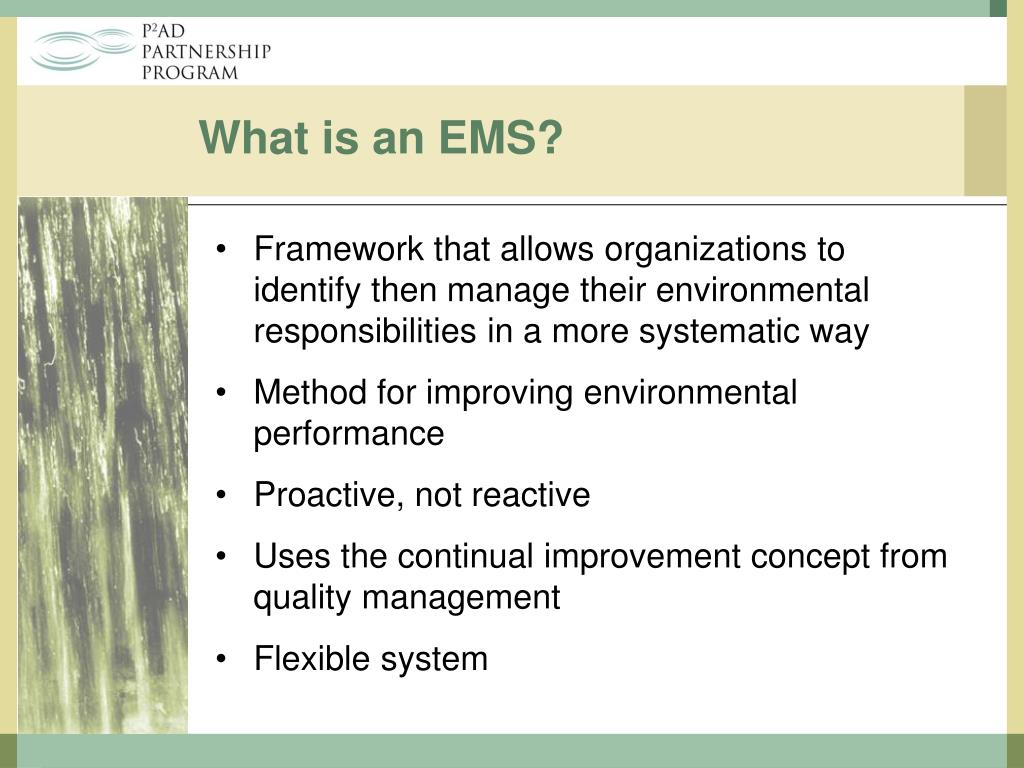 What is an EMS?