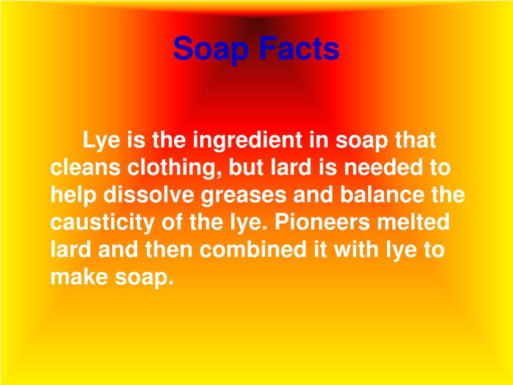 Soap Facts