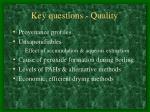 key questions quality