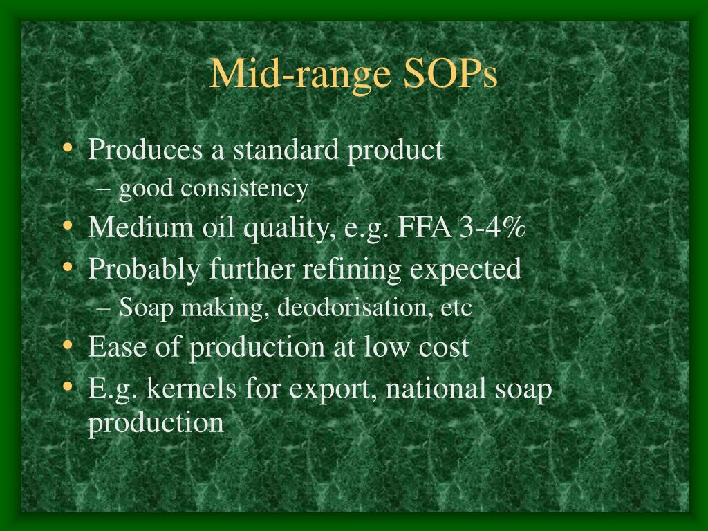 Mid-range SOPs