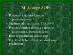 mid range sops