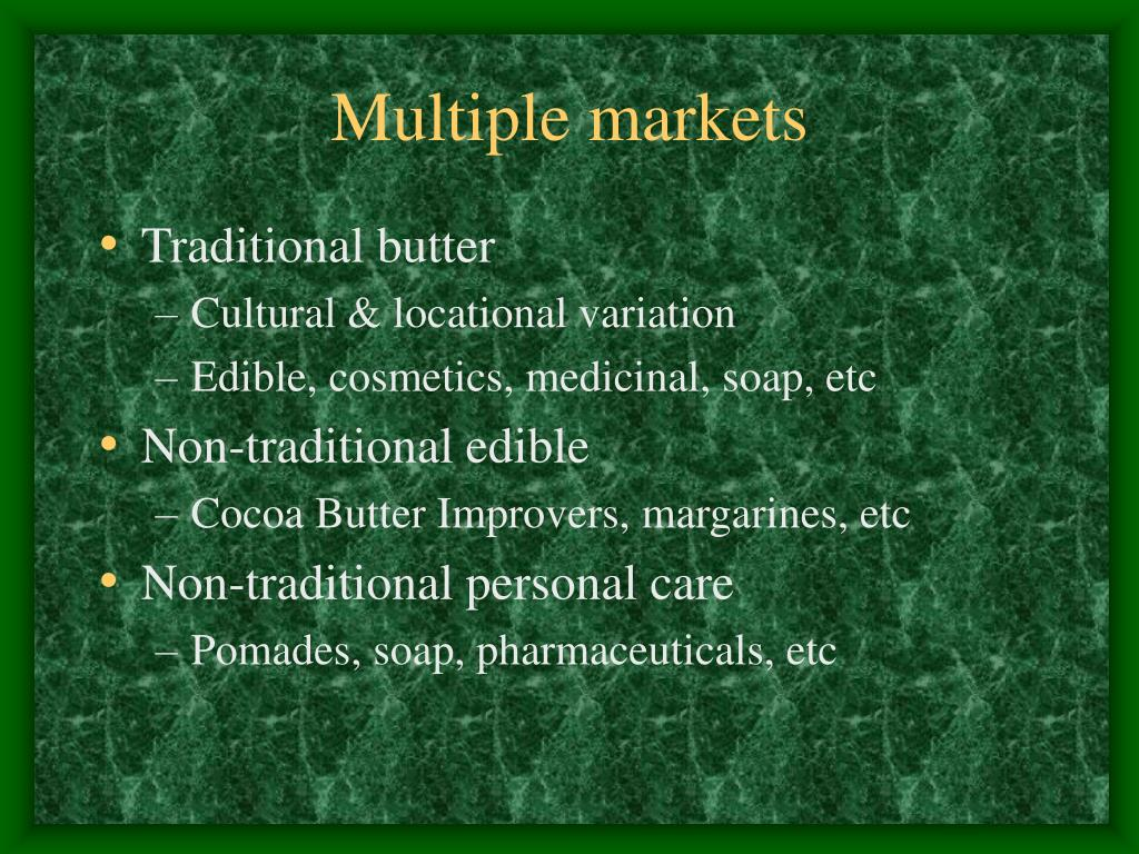 Multiple markets