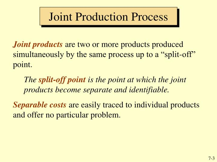 Joint production process3