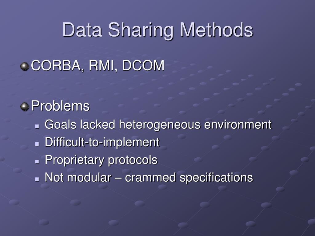 Data Sharing Methods