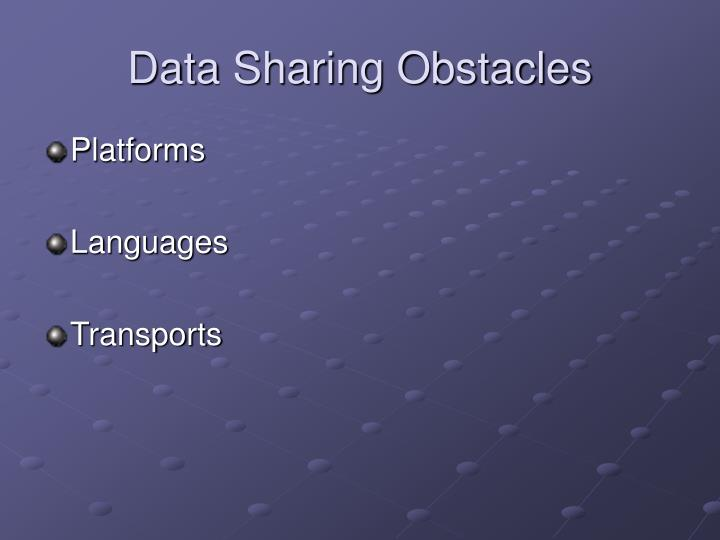 Data sharing obstacles