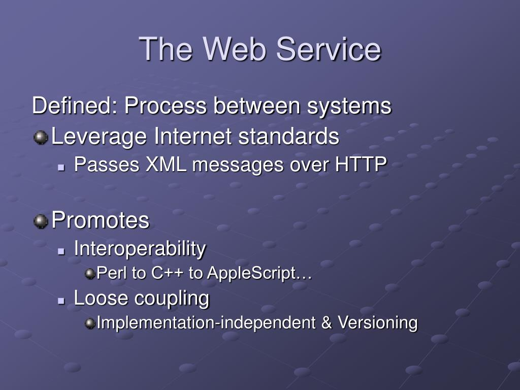 The Web Service