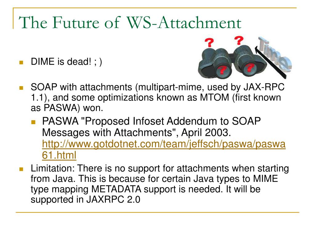 The Future of WS-Attachment