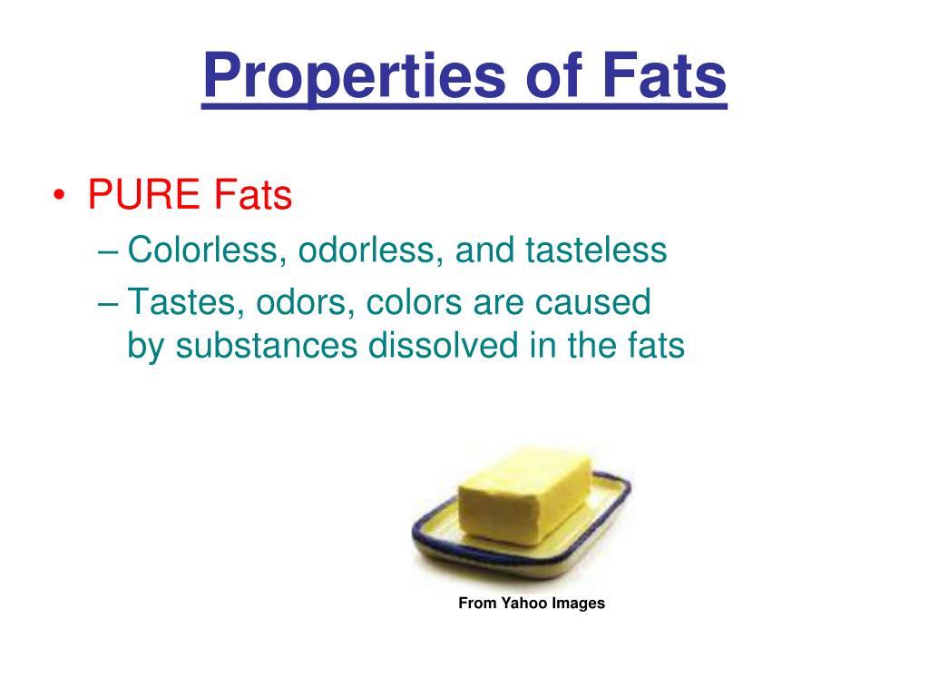 Properties of Fats