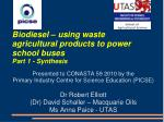 biodiesel using waste agricultural products to power school buses part 1 synthesis