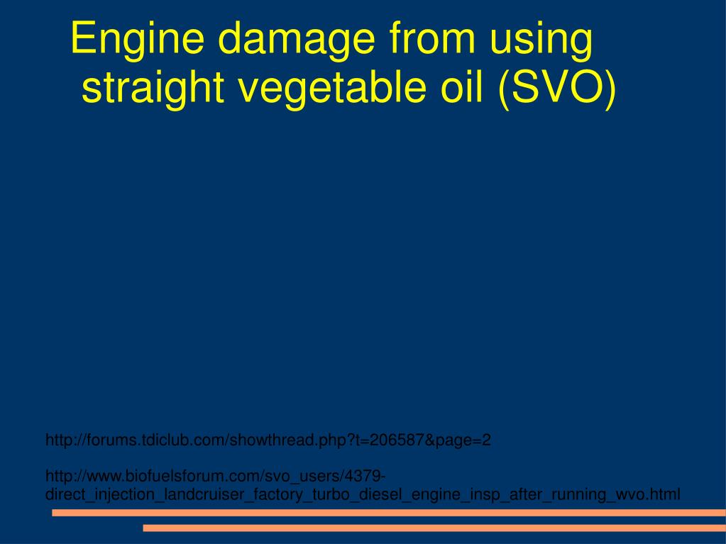 Engine damage from using