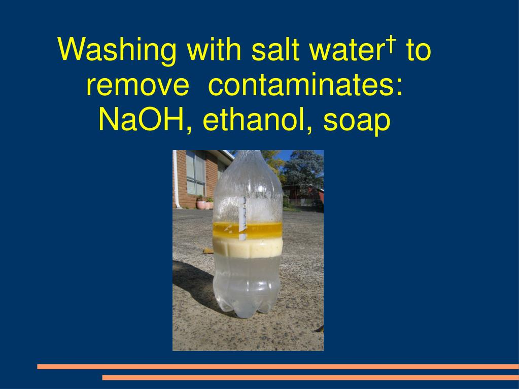 Washing with salt water