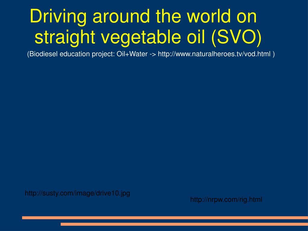 Driving around the world on