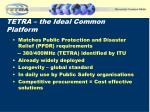 tetra the ideal common platform