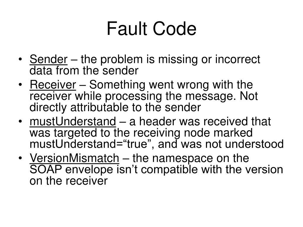 Fault Code