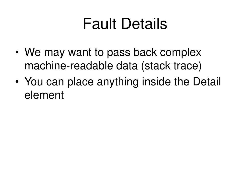 Fault Details