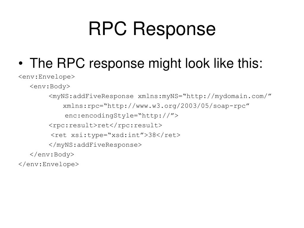 RPC Response