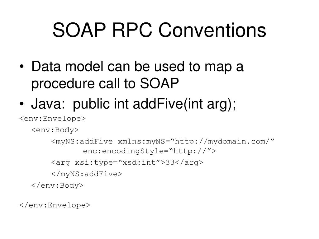 SOAP RPC Conventions