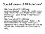 special values of attribute role