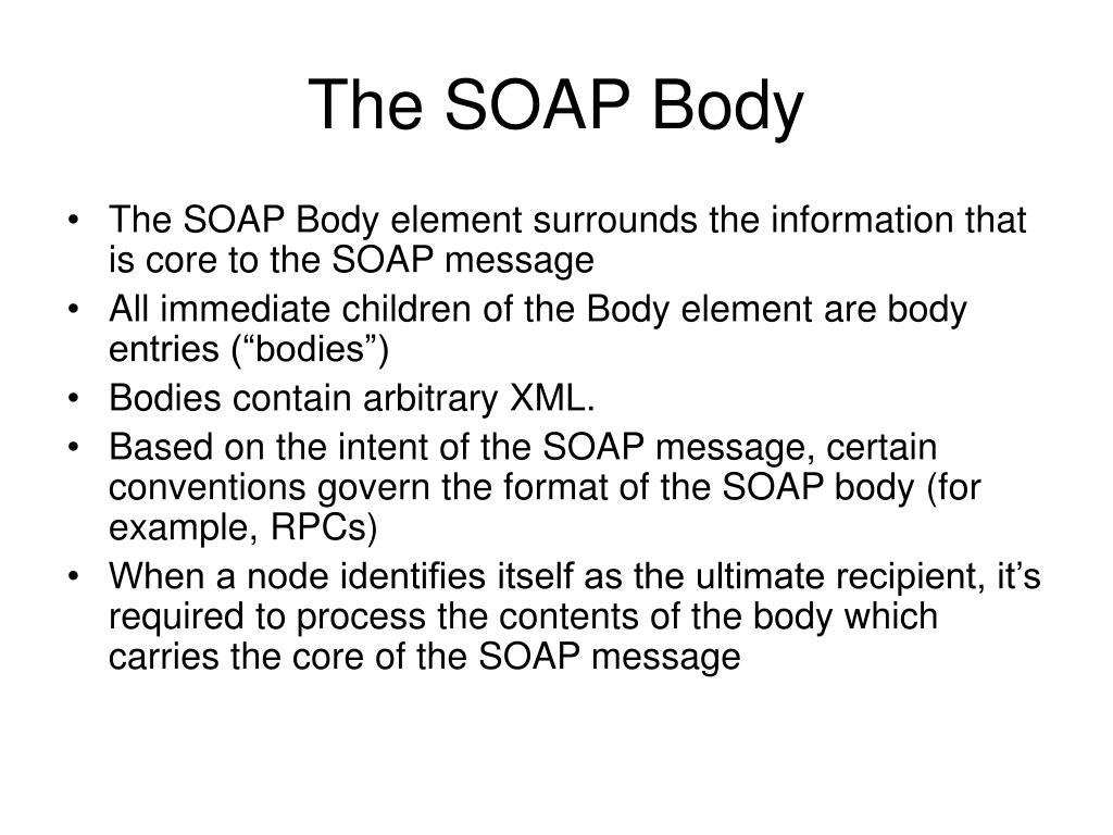 The SOAP Body