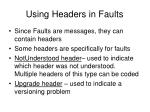 using headers in faults
