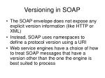 versioning in soap