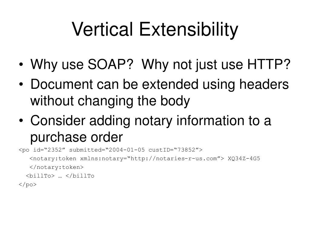 Vertical Extensibility