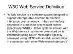 w3c web service definition