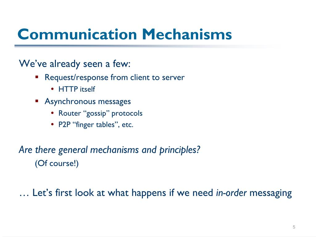 Communication Mechanisms