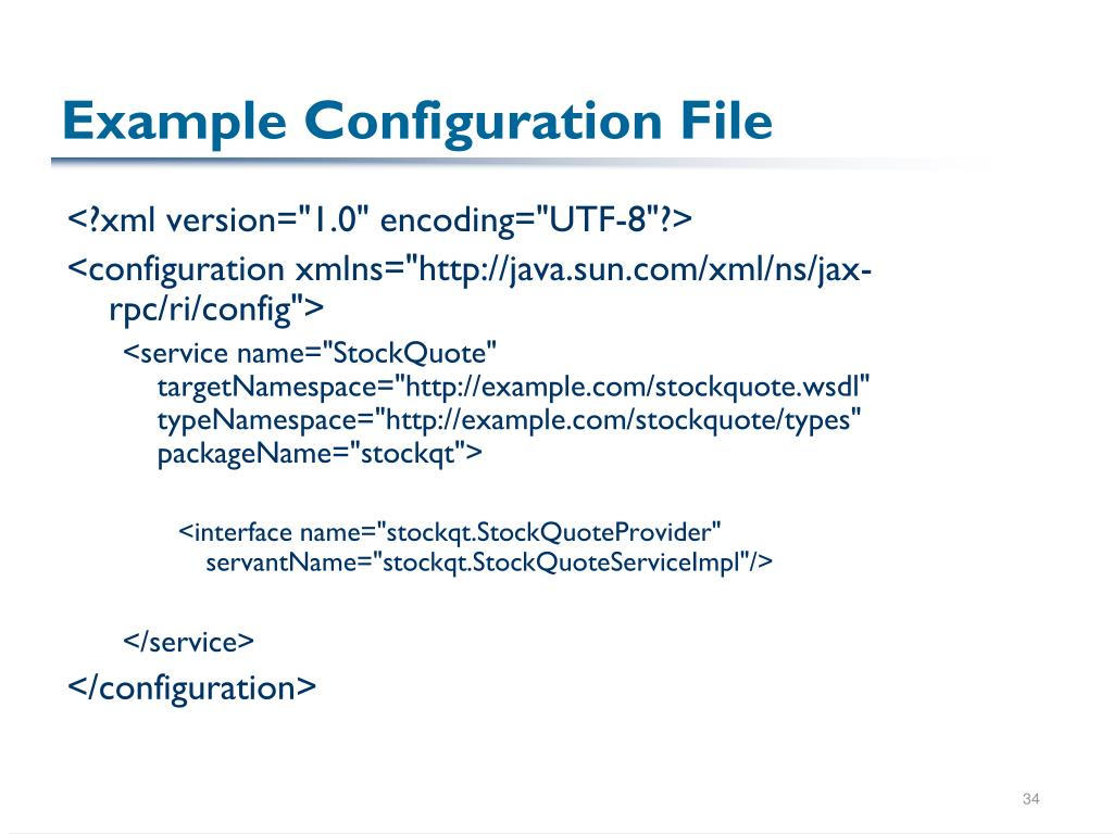 Example Configuration File