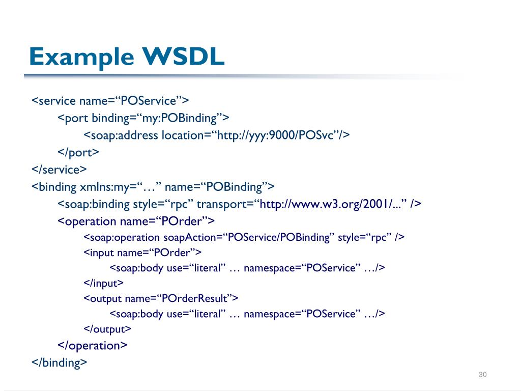 Example WSDL