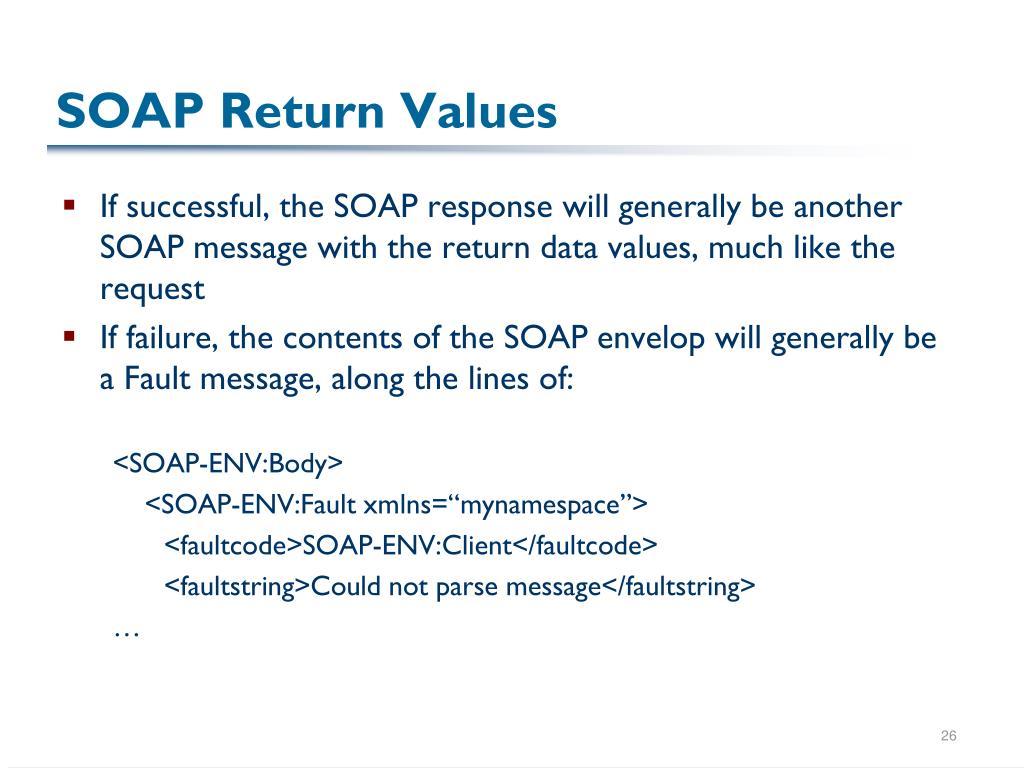 SOAP Return Values