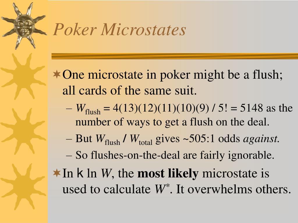 Poker Microstates
