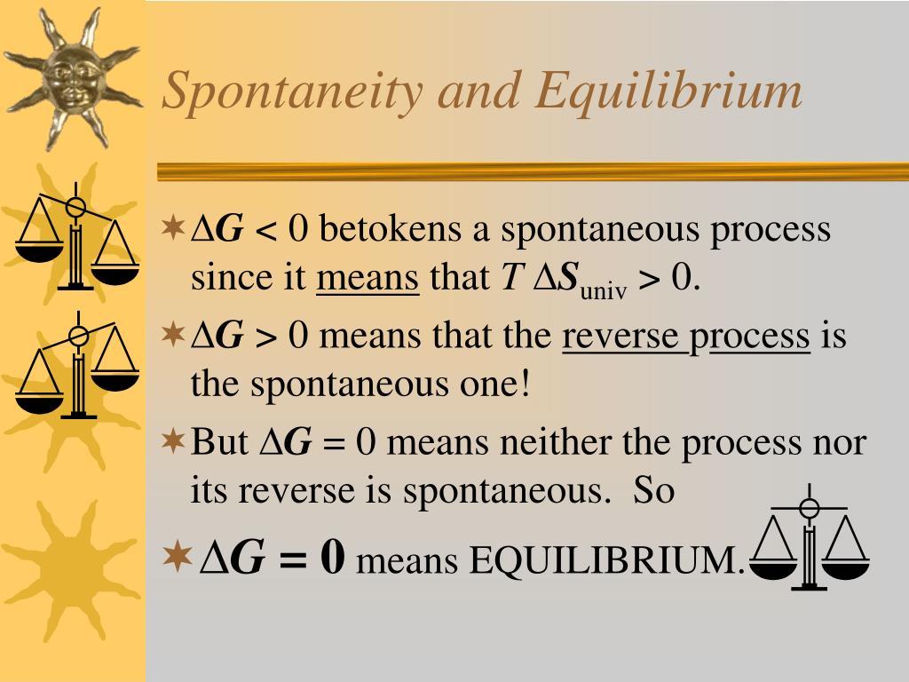 Spontaneity and Equilibrium