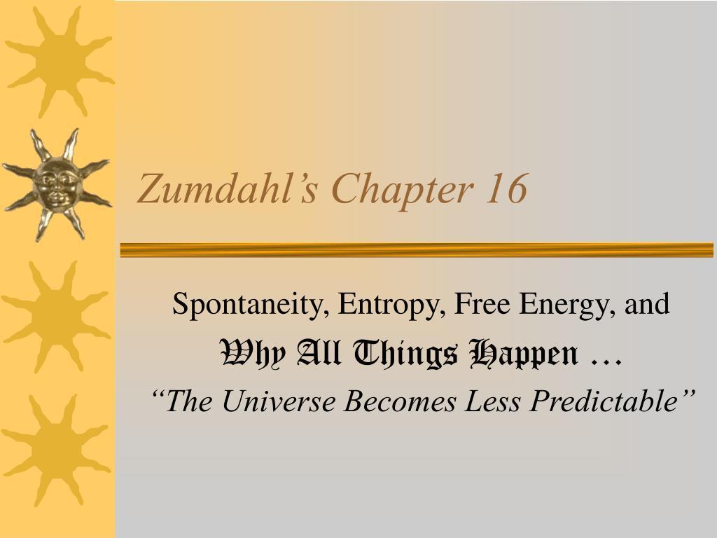 Zumdahl's Chapter 16