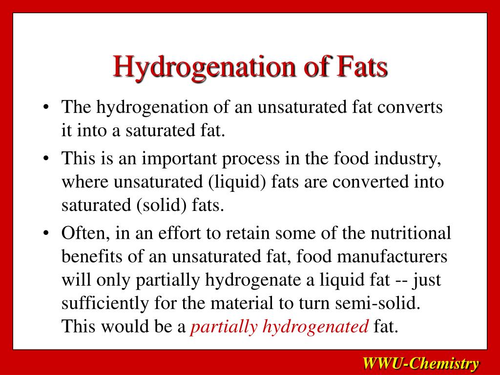 Hydrogenation of Fats