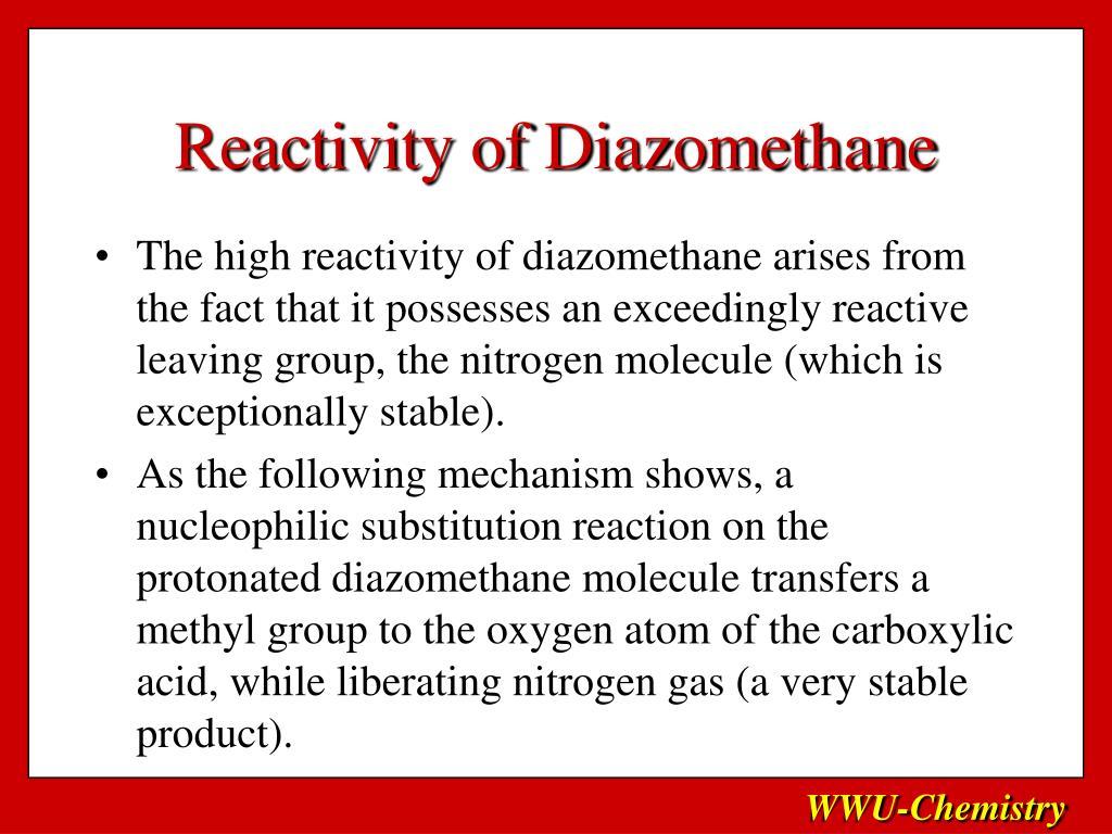 Reactivity of Diazomethane