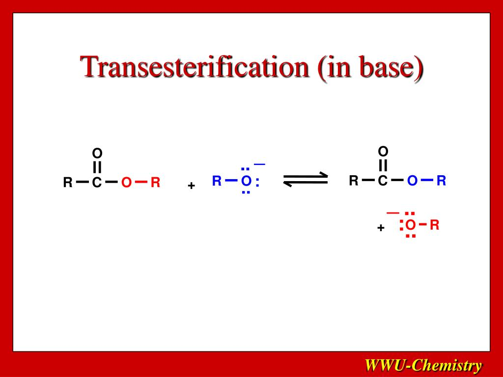 Transesterification (in base)
