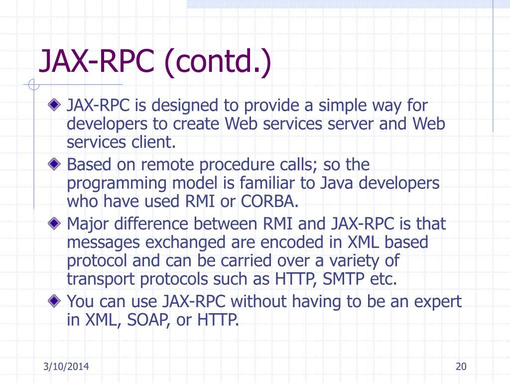 JAX-RPC (contd.)