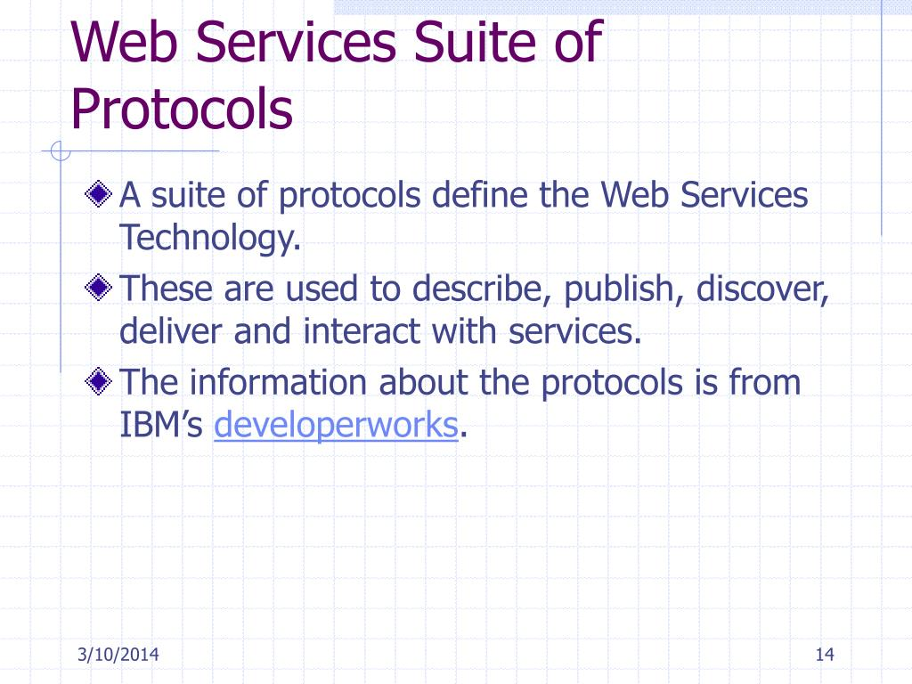 Web Services Suite of Protocols