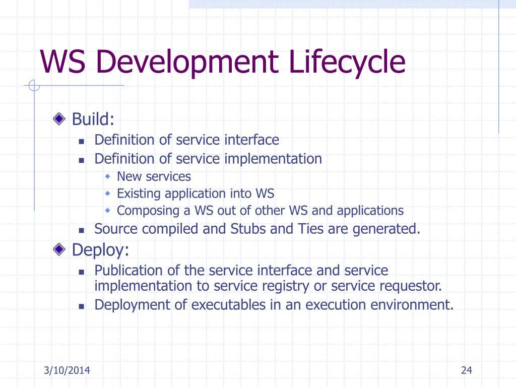 WS Development Lifecycle