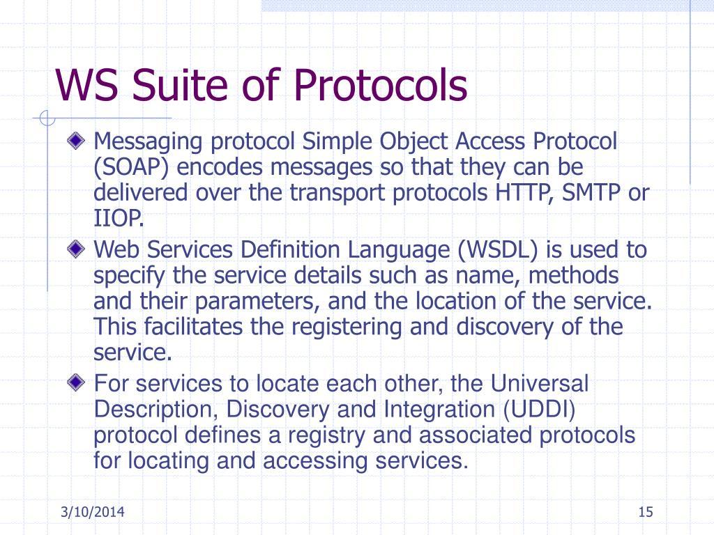 WS Suite of Protocols