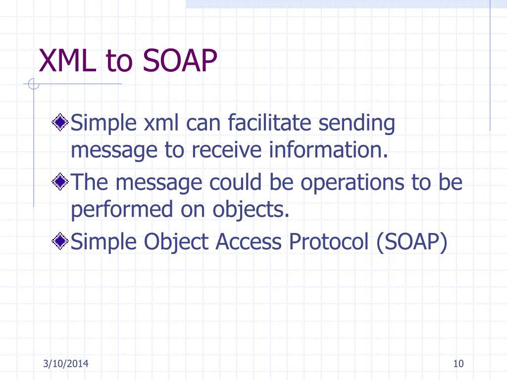 XML to SOAP