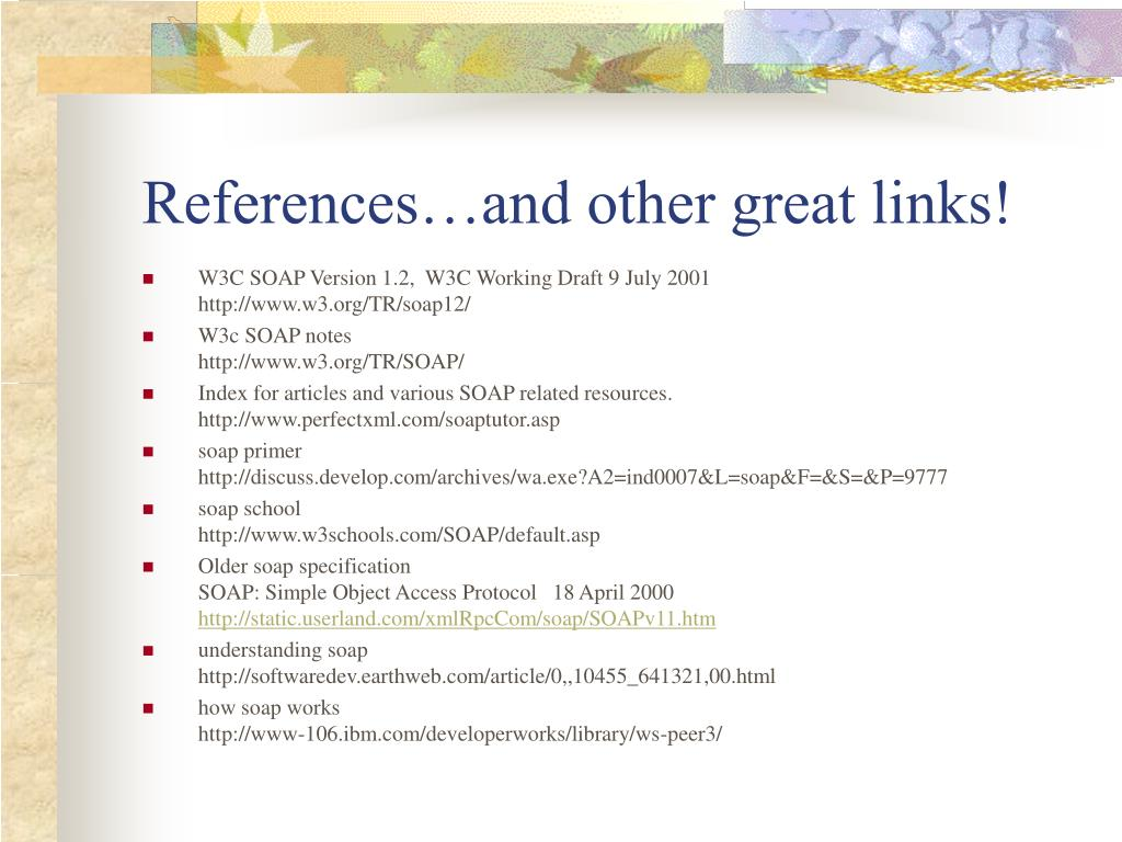 References…and other great links!