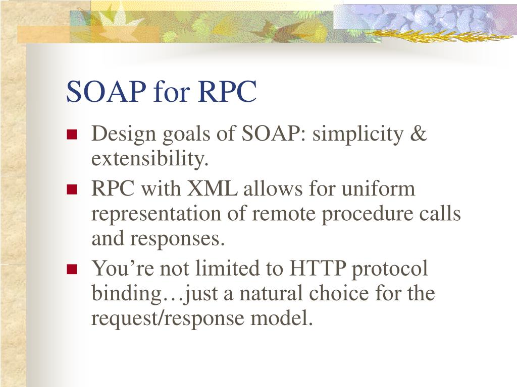 SOAP for RPC